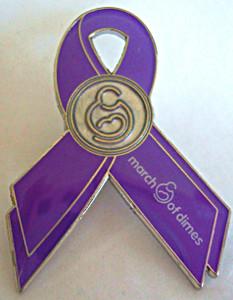 March of Dimes Awareness Ribbon Lapel Pin - 5 Pack
