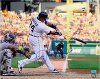 Miguel Cabrera Autographed Detroit Tigers 16x20 Photo #3 - Home Swinging (Horizontal)
