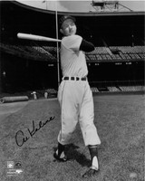 Al Kaline Autographed Detroit Tigers 16x20 Photo - B&W Batting