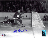 Alex Delvecchio Autographed Detroit Red Wings 8x10 Photo #5 - Scoring a Goal