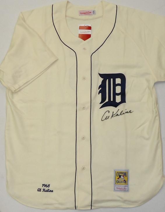 separation shoes 39807 d441a Al Kaline Autographed Detroit Tigers 1968 Home Mitchell & Ness Jersey