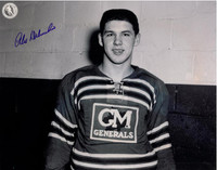 Alex Delvecchio Autographed Oshawa Generals 11x14 Photo #3