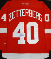 Henrik Zetterberg Autographed Detroit Red Wings Jersey (Home or Road)
