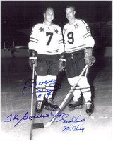 Gordie Howe & Bobby Hull Autographed 8x10 Photo #2 - All-Stars
