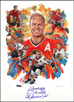 """Bobby Hull - The Golden Jet"" Autographed Lithograph"