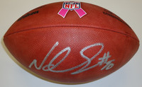 Ndamukong Suh Autographed Official Breast Cancer Awareness NFL Football