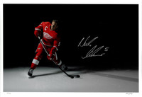 Nicklas Lidstrom Autographed Limited Edition 17x24 Print