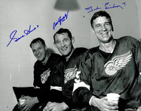 Gordie Howe, Ted Lindsay, and Bill Gadsby Autographed 11x14 Photo