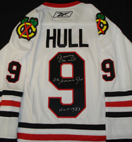 Bobby Hull Autographed Replica Blackhawks Jersey (Home or Road)