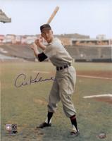 Al Kaline Autographed Detroit Tigers 16x20 Photo - Color Batting