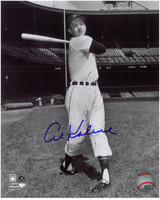 Al Kaline Autographed Detroit Tigers 8x10 Photo - B&W at Tiger Stadium