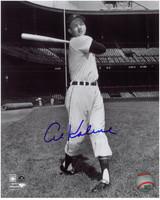 Al Kaline Autographed Detroit Tigers 8x10 Photo - B&W at Tiger Stadium