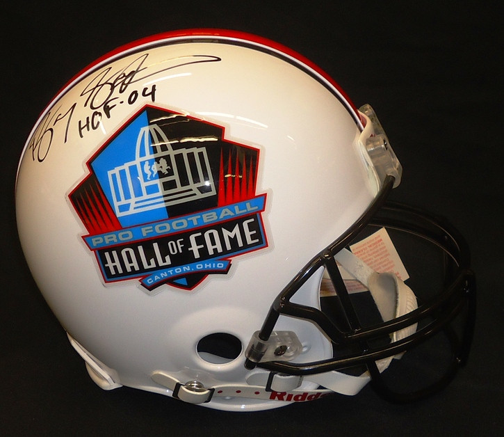 innovative design d269f 56437 Barry Sanders Autographed Hall of Fame Logo Pro Line Helmet with