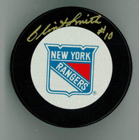 Clint Smith Autographed New York Rangers Game Puck