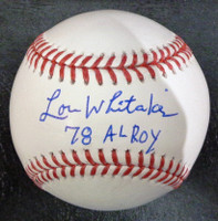 "Lou Whitaker Autographed Baseball - Official Major League Ball w/ ""78 ROY"""