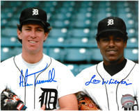 Alan Trammell and Lou Whitaker Autographed Detroit Tigers 8x10 Photo #4