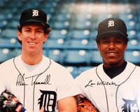 Alan Trammell and Lou Whitaker Autographed Detroit Tigers 16x20 Photo #4