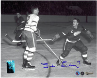 Ted Lindsay Autographed Detroit Red Wings 8x10 Photo #6