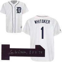 "Lou Whitaker Autographed Detroit Tigers Jersey w/ ""78 ROY"" Inscription"