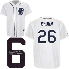 new concept f3f32 df420 Gates Brown Autographed Detroit Tigers Jersey w/