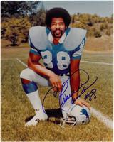 Charlie Sanders Autographed Detroit Lions 8x10 Photo #6