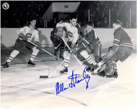 Allan Stanley Autographed Toronto Maple Leafs 8x10 Photo #4