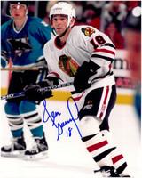 Denis Savard Autographed Chicago Blackhawks 8x10 Photo #2