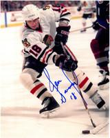 Denis Savard Autographed Chicago Blackhawks 8x10 Photo #1