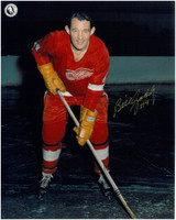 Bill Gadsby Autographed Detroit Red Wings 8x10 Photo #2