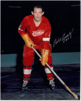 Bill Gadsby Autographed Detroit Red Wings 8x10 Photo #1