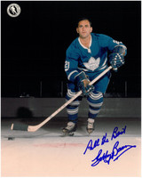 Bobby Baun Autographed Toronto Maple Leafs 8x10 Photo #3