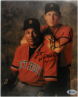 Alan Trammell and Lou Whitaker Autographed Detroit Tigers 8x10 Photo #1