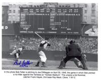 Bob Feller Autographed Cleveland Indians 8x10 Photo #2
