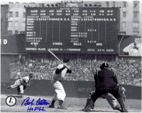 Bob Feller Autographed Cleveland Indians 8x10 Photo #1