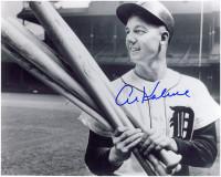 Al Kaline Autographed Detroit Tigers 11x14 Photo #1 - Holding Bats