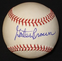 Gates Brown Autographed Baseball - Official Major League Ball