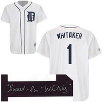 "Lou Whitaker Autographed Detroit Tigers Jersey w/ ""Sweet"" Inscription"