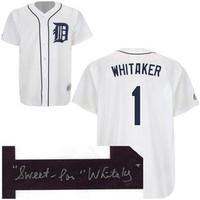 "Lou Whitaker Autographed Detroit Tigers Jersey w/ ""Sweet"" Inscription"