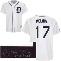"""Denny McLain Autographed Detroit Tigers Jersey w/ """"31-6, 1968"""" Inscription"""