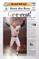 """Gr-r-reat!"" 1984 Detroit Tigers Free Press Poster"