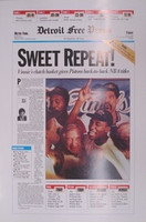 """Sweet Repeat"" 1990 Detroit Pistons Free Press Poster"