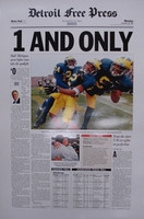 """1 And Only"" 1997 Michigan Wolverines Free Press Poster"