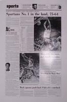 """Spartans No. 1"" 1979 Michigan State Spartans Free Press Poster"