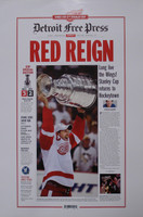 """Red Reign"" 2008 Detroit Red Wings Free Press Poster"