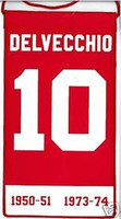 Alex Delvecchio Mini Retirement Banner Detroit Red Wing