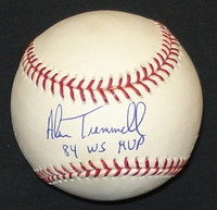 "Alan Trammell Autographed Baseball - Official Major League Ball w/ ""84 WS MVP"""