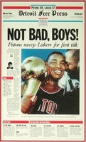 """Not Bad Boys"" 1989 Detroit Pistons Free Press Poster"