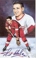 Sid Abel Autographed Legends of Hockey Card