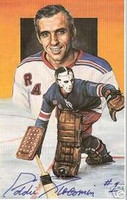 Eddie Giacomin Autographed Legends of Hockey Card