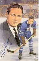 Red Horner Autographed Legends of Hockey Card